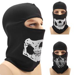 capacete de paintball completo Desconto Crânio do dia das bruxas Full Face Máscara Mais Quente À Prova de Vento Respirável Paintball Ciclismo Ski Shield Anti-UV Homens Chapéus de Sol Capacete