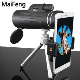 2019 telefones rotativos Telescópio monocular 40x60 Professional HD Mini Handheld com tripé Fone clip tripé Ultra Wide Angle Rotary Goggles maifeng telefones rotativos barato
