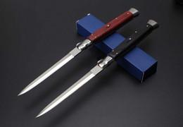 Cuchillos de auto online-Buena calidad 13 pulgadas italiano AB mafia estilete horizontal cuchillo táctico 440C hoja caza caza supervivencia auto cuchillos C81 EDC también