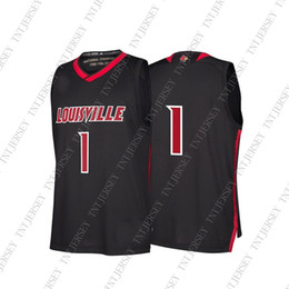 dc1ab389ed6 Cheap Custom Louisville Cardinals NCAA Men's March Madness Black #1  Basketball Jersey Personality stitching custom any name number XS-5XL  basketball custom ...