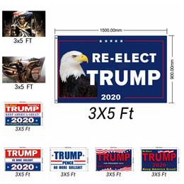 2019 ventana de impresión 90x150cm Trump 2020 Flag Print Keep America Great Banner Garden Window Decor President USA American Donald Flag 3X5 Ft LJJA2927 rebajas ventana de impresión