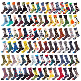 figuras de invierno Rebajas 92 la manera del estilo hombres de las mujeres de los calcetines otoño invierno nuevo patrón Hombre calcetines de algodón de dibujos animados de animales peces figura geometría de DHL