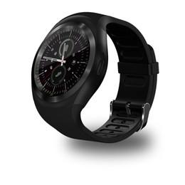 Gsm remote sim on-line-Bluetooth Y1 Relógio Inteligente Relogio Android SmartWatch Telefonema GSM Sim Câmera Remota de Exibição de Informações de Esportes Pedômetro