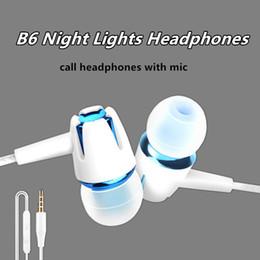 vivo nuovo telefono Sconti B6 wired auricolari luce notturna auricolare nuova cuffia con cancellazione del rumore auricolare con microfono per vivo xiaomi samsung cellulare