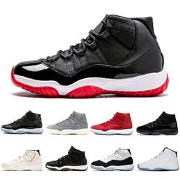 Basquete basculante on-line-Nike air Jordan Retro Com OG Caixa Mais recente 378037-061 Bred 11 Mens tênis de basquete 11s Concord Cap Jam Space and Vestido Homens Mulheres Sports sneakers 5,5-13