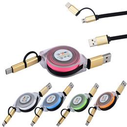 2019 cargador de carga retráctil Cable de cargador de datos USB de 1 m V8 Micro USB Tipo C Combo Cable de carga de datos retráctil macho rebajas cargador de carga retráctil