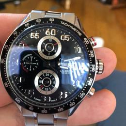 relojes de talla Rebajas relojes de la venta caliente de acero automática CAL1BRE 16 Tamaño 44mm cara Negro de acero correa de reloj sin batería