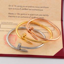 Bracelet à ongles pour femme, titane, acier, or rose 18K, lettre, lettre, diamant, dame, mariage, soirée dansante, bracelet ? partir de fabricateur