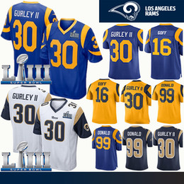 3e1e20314 Los Angeles 30 Todd Gurley Rams Jersey 16 Jared Goff Super Bowl 99 Aaron  Donald Mens Jerseys Embroidery Logos Stitched Jerseys