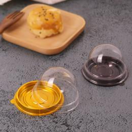 2pcs = 1set Round Cake Box En Plastique Simple Individuel Moon Cake Tray Box Boîtes En Plastique Mooncake Pvc Boîtes Emballage Cadeau Alimentaire boîtes epacket Gratuit ? partir de fabricateur