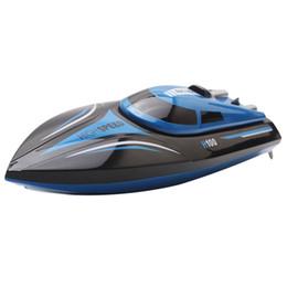 Canada vente en gros H100 2.4GHz 4 canaux 30km / h bateau à grande vitesse avec écran LCD émetteur super vitesse bateau RC bateau à moteur électrique jouets RC cheap speedboat toys Offre