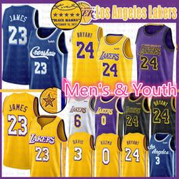 Camisetas de baloncesto 33 online-LeBron James 23 24 8 33 camiseta de baloncesto para hombre Lower Merion Niños Jóvenes NCAA Los ÁngelesLakers 2020 nuevas camisetas de la universidad