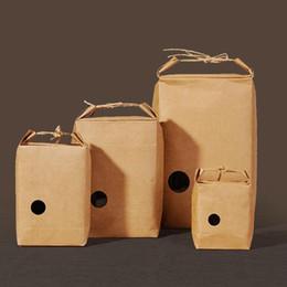 2019 piccoli sacchetti di carta 30pcs // Scatola per sacchetti di pane Borsa in carta kraft rossa con manico Borsa per zucchero / caramelle / chicchi di caffè Borse per piccole feste sconti piccoli sacchetti di carta