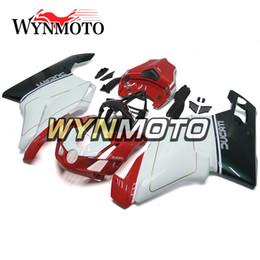 Lucido Bianco Rosso Nero Iniezione Carene Complete Per Ducati 999 749 999 749 3 04 04 Monoposto Anno 2003 2004 Cappottature in plastica ABS da 999 fornitori