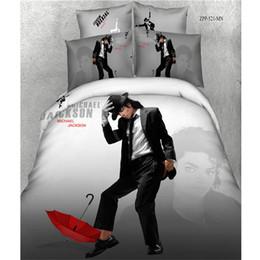 Ms.O 3D Print Copripiumino Set Queen Size Star del cinema Marilyn Monroe Michael Jackson Set biancheria da letto Set lenzuola in cotone Set biancheria da letto da