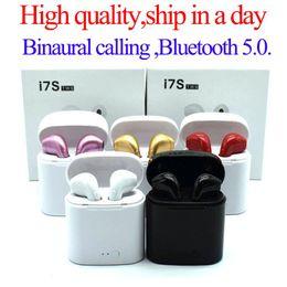 Canada I7S TWS Twins Casque Bluetooth Écouteurs sans fil Mini Écouteurs sans fil Casque Casque avec Micro Stéréo DHL Offre