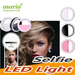 Para Iphone X recargable de lujo universal Móvil flash de LED se encienden selfie luminoso anillo de teléfono para iPhone Android con la carga del USB desde fabricantes