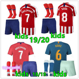 2e6e366af1 Nueva camiseta de fútbol niños 2019 2020 Maillot de football pour enfants 19  20 kits de camisetas de fútbol para niños Atletico Madrid kits de fútbol  para ...