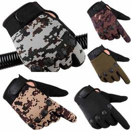 guanti di vestito di cuoio delle donne Sconti Gli uomini di moda tenere in caldo Guanti Cashmere inverno maschio del camuffamento che guida i guanti comodi L50 / 1225
