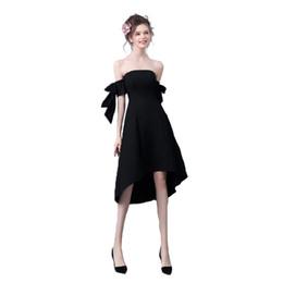 Sexy Abendkleid 2019 neu Hepburn trägerlos kleines schwarzes Kleid ein-Schulter-schwarzes Cocktailkleid von Fabrikanten