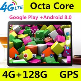 планшет google inch Скидка 10-дюймовый планшет Android 4 ГБ ОЗУ 128 ГБ ПЗУ Google Android 8.0 ОС Двойная камера WiFi 1920 * 1200 IPS 3G 4G FDD LTE GPS планшет 10