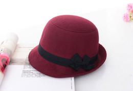 b177b7bf262 2017 Vintage Fashion Solid Felt Women Woolen Fedora Bowlers Hat Cap For  Ladies Girls Multi-Color 2017 D19011103