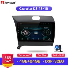 kia cerato estéreo Desconto Junsun Android 9.0 para Kia Cerato 2.013-2.015 Auto 2 Stereo Radio Din Car Jogador Bluetooth 2G + 32G GPS Navigation Não DVD slot