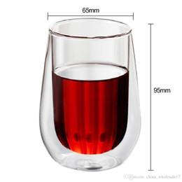 Tazza di caffè della birra della tazza di vetro del tè della doppia parete resistente al calore 250 / 450ml Tazza di caffè sana creativa fatta a mano creativa della bevanda della tazza da