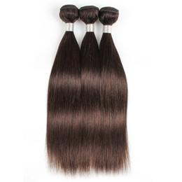 KISSHAIR Brésiliens Cheveux Raides 3 Faisceaux Tissage de Cheveux Humains Couleur # 2 Le plus foncé brun péruvien Indien Vierge Extension de cheveux ? partir de fabricateur