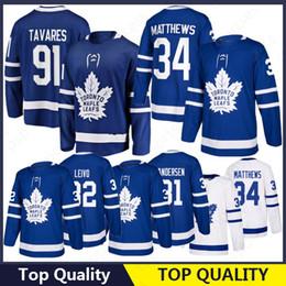 topo de bordo Desconto 91 John Tavares Toronto Maple Leafs Jersey 16 Mitch Marner 34 Auston Matthews Senhora Atacado de alta qualidade 100% Costurado 2019