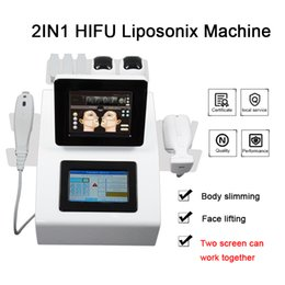 Machine massage anti rides en Ligne-Qualité Hight Hifu LipoSonix massage du visage amincissant la machine anti-rides focalisés de haute intensité de la machine de l'échographie LipoSonix