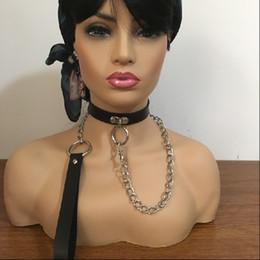 2019 sexy leinenkragen 2019 neue pu leder kragen leine sexy neck ring für frauen männer erwachsene spiel halskette neuheit sex produkte für sex spiel günstig sexy leinenkragen