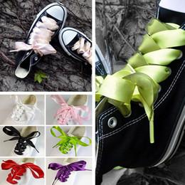 Плоская обувь korea новый онлайн-1 пара новый Япония-Корея конфеты цвета ленты широкий плоский шнурка шнурка шнурка шнурка для кроссовок унисекс 7 цветов