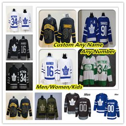 Cheap 2019 Toronto Maple Leafs Hockey maglie Auston Matthews John Tavares Mitchell Marner William Nylander Andersen Marleau Rielly Nero da