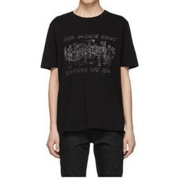 T-Shirt 19s Saint T Shirt T-shirt semplice Letter T-shirt Paris SLP Manica corta T-shirt da uomo Lauren Street Tops Maglietta One More Shot da ulteriori tag fornitori