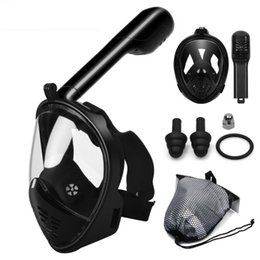 2019 máscara de snorkel completo Máscara de mergulho Máscara de Mergulho Subaquático Anti Nevoeiro Rosto Cheio Máscara de Mergulho Mulheres Homens Crianças Natação Snorkel Equipamentos de Mergulho Óculos de motocicleta máscara de snorkel completo barato