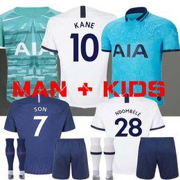 2019 camisa piscando 19 20 KANE NDOMBELE Camisa de futebol 2019 2020 LUCAS ERIKSEN DELE SON jersey Kit de futebol camisa Homens e MIÚDOS goleiro LLORIS Tottenham camisa piscando barato