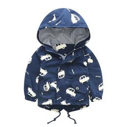 Niños abrigo para niños otoño niños chaqueta de dibujos animados coche prendas de vestir exteriores abrigos chico rompevientos ropa de bebé desde fabricantes