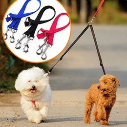 Specifiche di 2 tipi 50 * 1,5 cm Design a doppia testa Trigger Hook Cat Puppy Harness Pet Dog Poodle Leash Walking Corda da cintura da
