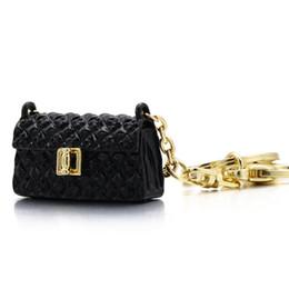 portachiavi a forma di auto Sconti Nuovo stile Borsa strass a forma di catena chiave borsa di Charme Bag portachiavi creativo mini del metallo di cristallo del pendente della borsa dell'anello portachiavi