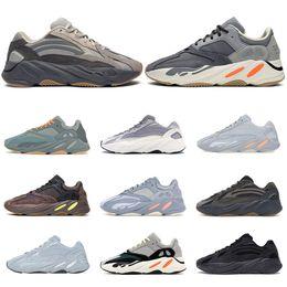 chaussure de sport balle mi-coupe Promotion Aiddas Yeezy Boost 700 V2 Top qualité Kanye West Runner 700 femmes Vague Hommes Chaussures Inertie Aimant Tephra Hôpital Bleu Vanta Baskets en cuir Chaussures de sport