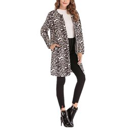 f36d1aba488e long leopard trench coat Coupons - Leopard Print Sexy Trench Coat For Women  Fashion Casual Long