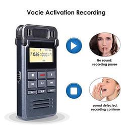 2019 gravador de voz digital sd cartão Palestras Dictaphone cancelamento de ruído Sound Audio A-B Repeat MP3 Player Portátil Mini Digital Voice Recorder 8GB de carregamento USB