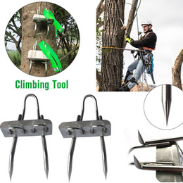 fruit picking tool Promo Codes - Tree Climbing Tool Pole Climbing Spikes for Hunting Observation Picking Fruit 304 Stainless Steel Climbing Tree Shoes Simple Use