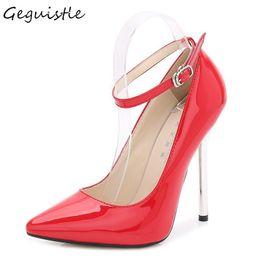 Vestido de gran tamaño Super zapatos de tacón alto Venta caliente Oficina Carrera Pionted Toe Mujeres Bombas Moda Hebilla Correa Zapatos cómodos desde fabricantes