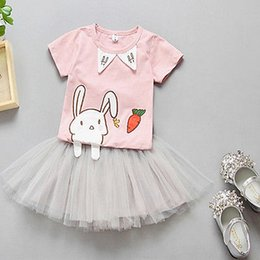 2019 vestito del gatto del bambino Emmababy Newborn 2PCS Toddler Kids Baby Girl Outfit Clothes Cat T-Shirt Top Tutu Dress Gonna Pullover Outfit Set vestito del gatto del bambino economici