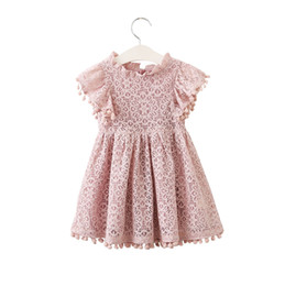 dress design for kids princess Promo Codes - Dress for Girl New Brands Girl Dresses High Quality Tassel Hollow Out Design Princess Dress Kids Clothes Children's Clothes