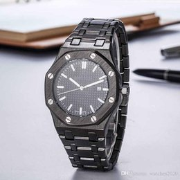 Sport watches white online-Luxuxmänner Quarz-Uhren für den Sport Royal Oak quartzwatch Geschäfts-Uhr mit Datum Uhr Multicolor Edelstahl Armbanduhr Weiß Sliver Dial