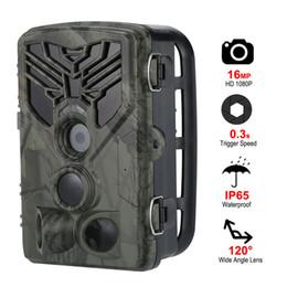 cámara oculta al aire libre Rebajas Caza de vigilancia inalámbrica Cámara de vigilancia HC810A Cámaras de vida silvestre Visión nocturna por infrarrojos 16MP 1080P Cámaras salvajes Trampas fotográficas