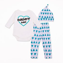 10aa68d7413cf 2019 Kid Clothing Set Cotton 4Style Kids Clothes Love DAD&MOM Long Sleeve &  Pant & Hat Fashion Children 1Set Free shipping HB015
